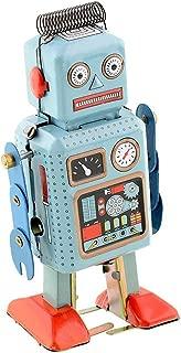 Actopus Vintage Style Windup Toys Robot Metal Tin Clockwork Spring for Novalty Xmas Gift