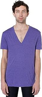 Men Tri-Blend Deep V-Neck T-Shirt