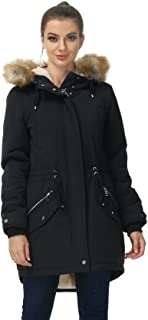 Sponsored Ad - Royal Matrix Women's Hooded Warm Winter Parka Coat Fleece Lined Long Thichkened Winter Jacket with Faux Fur...