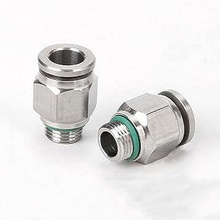 304 Rvs Volledige Metalen Rechte Door Pneumatische Connector Fittings PC6 G01 voor 3D Printer 2 STKS