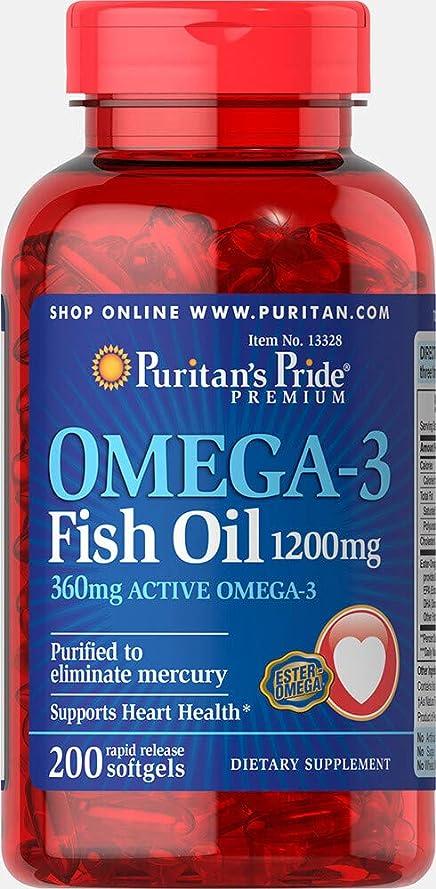 翻訳者に向けて出発外科医ピューリタンズプライド(Puritan's Pride) オメガ3 魚油 フィッシュオイル 1200 mg.ソフトジェル
