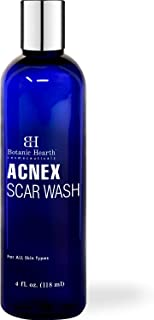 BOTANIC HEARTH Acnex Scar and Acne Wash - Facial Cleanser for Acne, Blemishes & Dark Spots - Helps Clear Pores, Reduce appearances of Acne Scars and Promotes Glowing Skin, 4 fl oz
