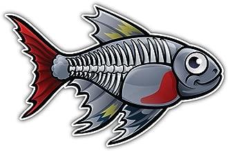 SkyLabel Xray Tetra Fish Cartoon Bumper Sticker Vinyl Art Decal for Car Truck Van Wall Window (10'' X 6'')