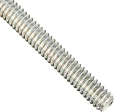 Steel Fully Threaded Stud, Zinc Plated, #10-32 Thread Size, 2