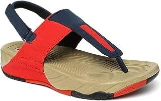 PARAGON SOLEA Plus Women's Red & Navy Blue Sandals