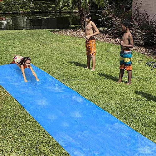aheadad Tobogán de agua para piscina, caña, tobogán de agua, juguete de agua, alta densidad, gran deslizamiento, tobogán de agua hinchable, juguete de agua para carreras de jardín al aire libre