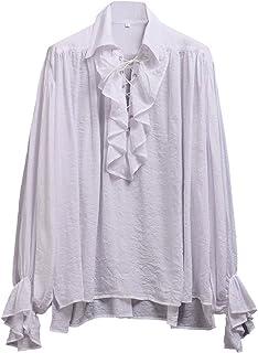 2fbe6f2bb57284 Amazon.com: white poet shirt: Clothing, Shoes & Jewelry