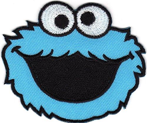 Monstruo de las galletas Barrio Ssamo Elmo Monstruo cartoon logo Kid Baby Boy chaqueta camiseta parche coser hierro en bordados disfraz de gamuza de smbolo Badge Sign Prinya Shop
