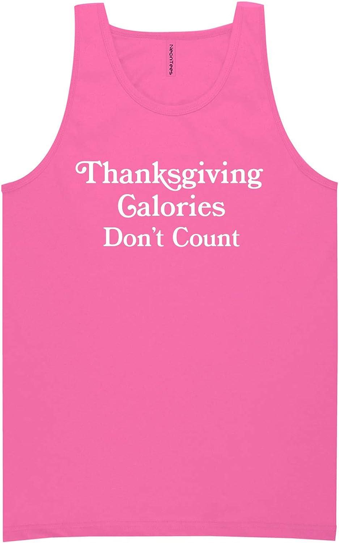 zerogravitee Thanksgiving Calories Don't Count Neon Pink Tank Top - XX-Large