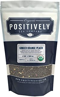 Positively Tea Company, Organic Ginger Orange Peach, Black Tea, Loose Leaf, USDA Organic, 1 Pound Bag