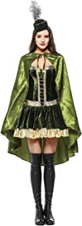 Deluxe Sexy Robin Hood Costume Women Halloween Party Cosplay Forest Hunter Pirate Dress Fantasy Stage Performance Outfit
