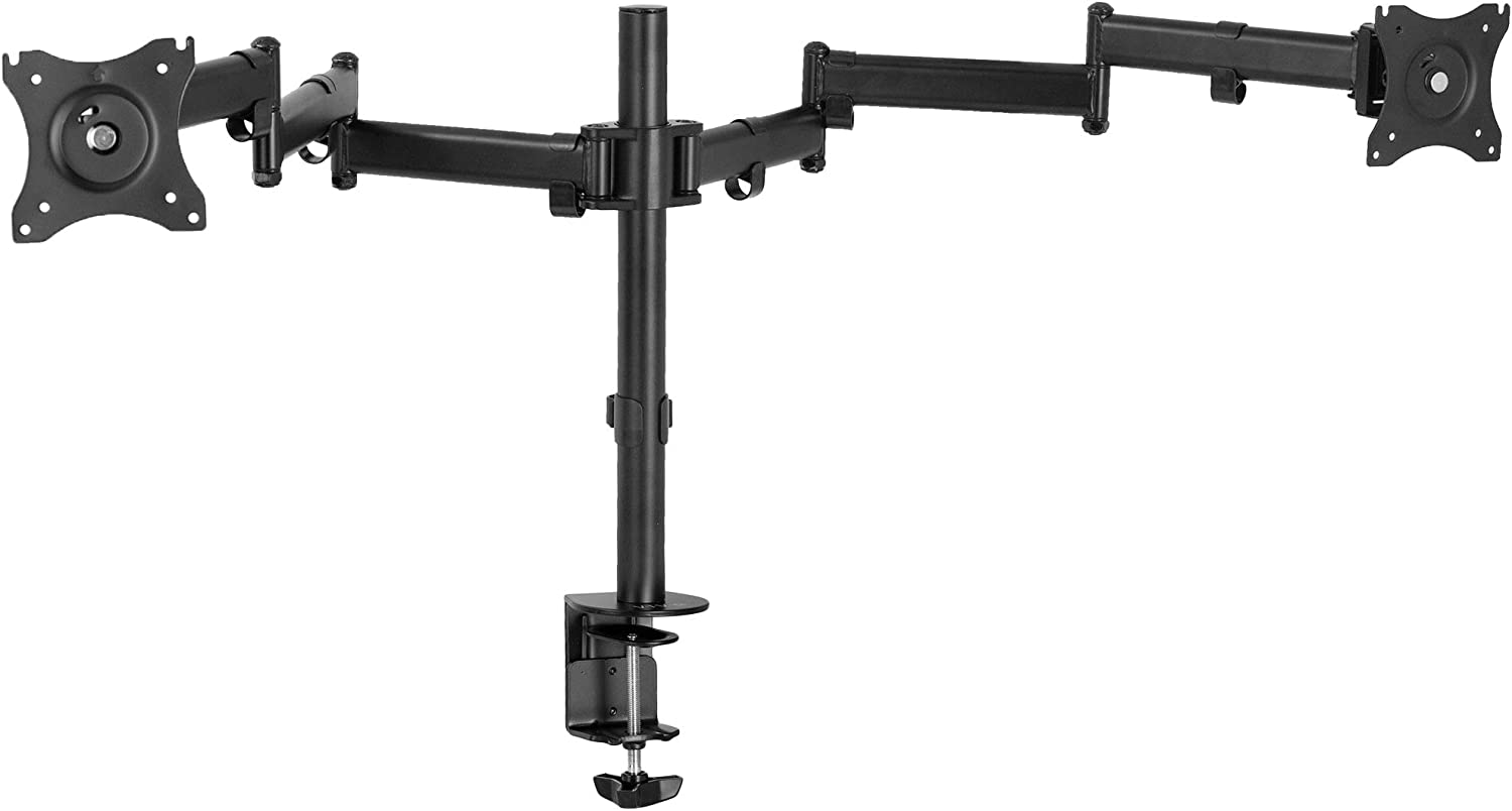VIVO Dual Ultra Wide 13 to 38 inch Computer Monitor Mount, Fully Adjustable VESA Stand for 2 Wide Screens, STAND-V038M
