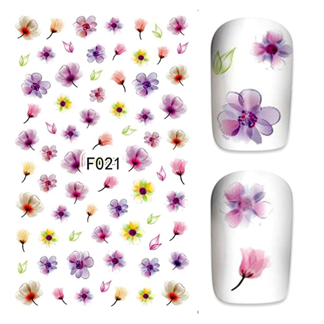 贅沢なスチール前売水彩 お花パターンネイルステッカー ネイルシールネイルアートパーツ