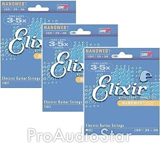 Elixir Strings 12052 Nanoweb Electric Guitar Strings .010-.046 (3-pack)