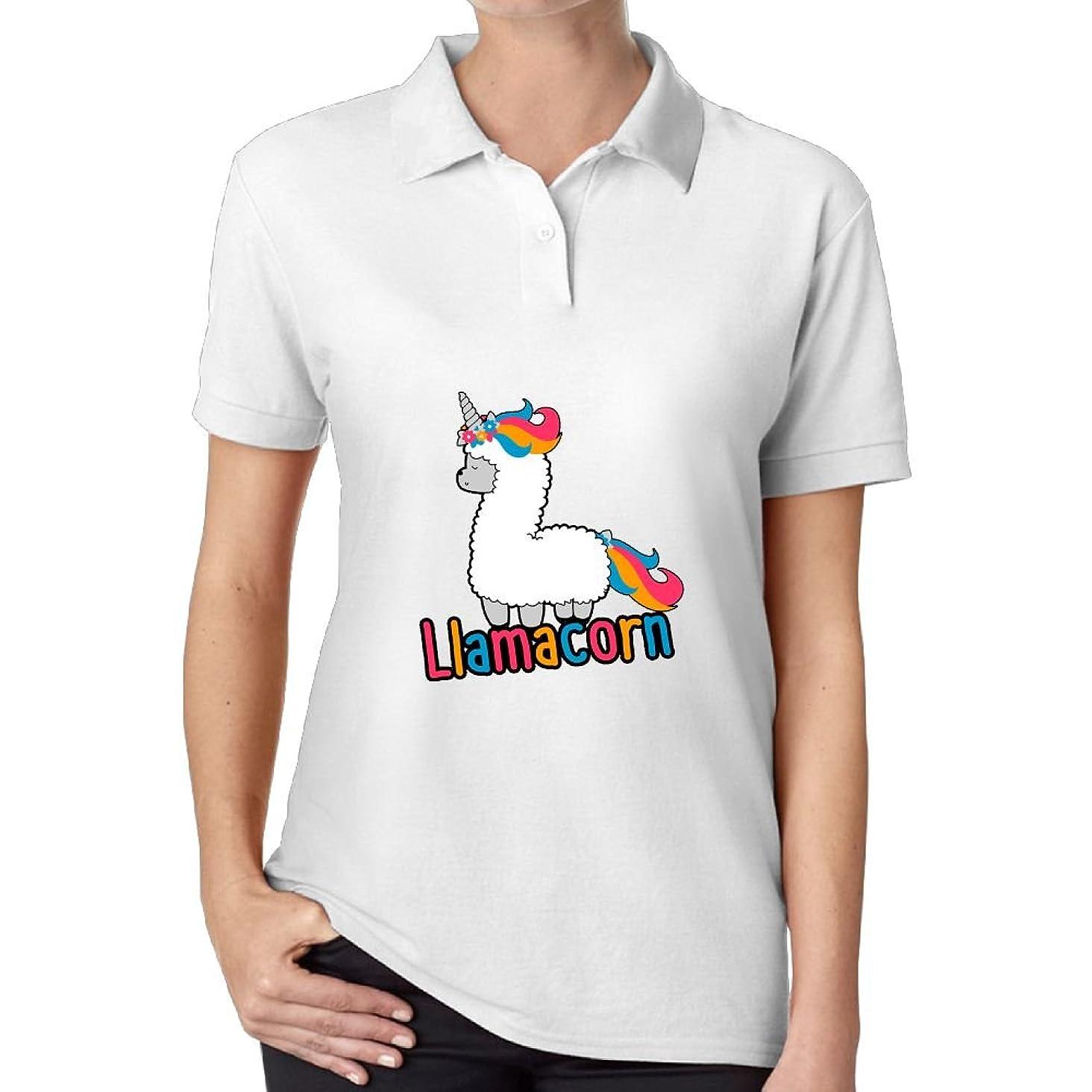 Mokjeiij Cute Llamacorn T-Shirt Men's Summer Womens Short Sleeves Comfortable and Sturdy Shirt Blouse T-Shirt Blouse.