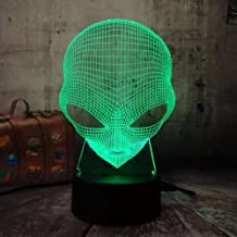 Children's Room Decoration Lamp Illusion Night Light Touch Table Desk Lamp 7 Color Light for Girls Children's Day Gift Art and Crafts Alien Lamp