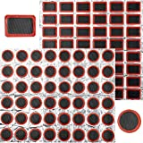 Xinmeng 96 Piezas Kit de reparación de pinchazos para Bicicleta, Parches Bicicleta, Reparación de Tubo Interior Parches, Accesorios de Reparación de Goma de Neumáticos de Bicicleta