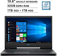 2019 Newest Dell G5 15 5590 15.6 Inch FHD 1080p Gaming Laptop (Inter 6-Core i7-9750H up to 4.5GHz, 32GB DDR4 RAM, 1TB SSD (Boot) + 1TB HDD, GeForce GTX 1660 Ti 6GB, Backlit KB, Webcam, Windows 10)