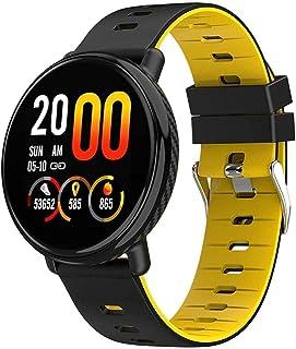 "hwbq Smart Horloge 1.3 ""Screen Fitness Tracker Sport Stappenteller Armband Bericht Push Smart Reminder Ip68 Waterdicht-Geel"