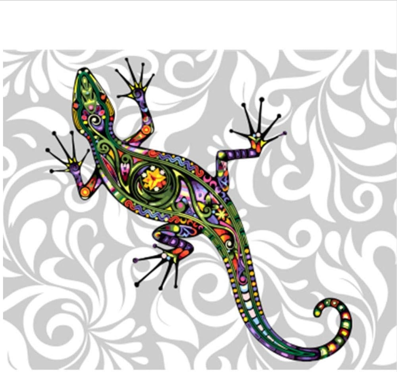 CZYYOU Bild Tier DIY Malen Nach Zahlen Bunte Bild Home Decor Für Wohnzimmer Hand Einzigartige Geschenke 40x50cm-Mit Rahmen B07PNG7MNZ | Abgabepreis