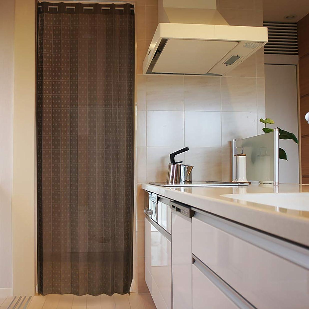 忍耐活性化する構築するアコーディオン カーテン 間仕切り のれん 目隠し 遮熱 冷気遮断 square 150×250 cm丈 (ブラウン)