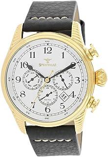 Spectrum Men's Gold Case White Dial Multi Function Dress Watch