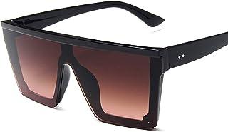 SCAYK - SCAYK 2021 Vintage Masculino Plano Top Gafas de Sol Hombres Marca Negro Cuadrado Sombras UV400 Gradiente Gafas de Sol para Hombres Gafas de Sol Frescas para Hombres Gafas de Sol Eviertas de Sol