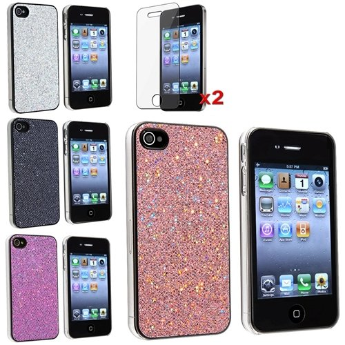 4 Bling Glitter Hard Case Skin compatible with iPhone® 4 4G Version iPhone®  4S fa7fa89287ff