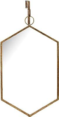 "Sagebrook Home 13471 Ceramic Wall Mirror, 13.25"" x 0.5"" x 23.5"", Gold"