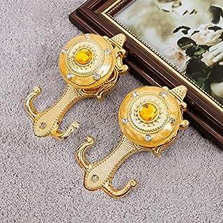 HUANGMENG Accessoires décoratifs pour Rideaux 2 PCS Crochet Mural décoratif Double barbelés en Cristal (Bronze) (Couleur :...