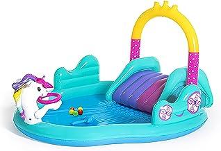 MKMKL Piscina Inflable Espesa, Piscina De Parque con Forma De Unicornio, Piscina para Niños, Bañera, Piscina Interior Al Aire Libre, Azul, 108X78x54in