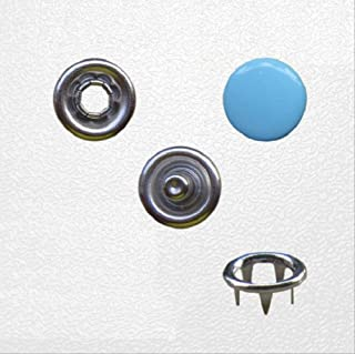 SQWK   4in One Prong Snap Buttons 10mm Claw Fasteners Press Stud Metal Copper Environmental para regalo hecho a mano Costura artesanal 10mm 6 azul claro