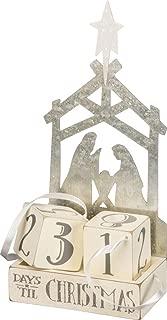 Primitives by Kathy Christmas Countdown Wood Blocks Set, Nativity, 3 Piece