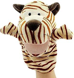 Isuper Marionetas de Mano,Peluche de Mano,Juquete Felpa de Mano de Dedo Diseño de Animal Lindo Peluche para bebé(Tigre)
