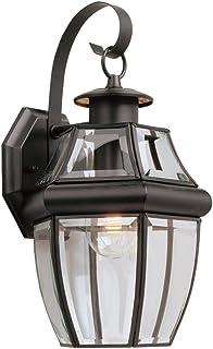 Sea Gull Lighting 2252787 Lancaster One Light Outdoor Wall Lantern, Black
