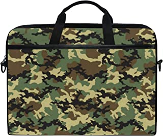 DOSHINE Laptop Bag Case Sleeve Camo Camouflage Abstract Notebook Computer Bag for 14-14 5 inch Adjustable Shoulder Strap  Back School Gifts for Men Women Boy Girls