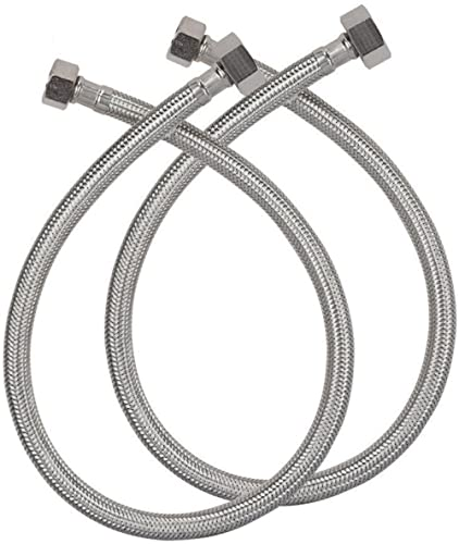 Alton ALT2065 24-inch, 304 Grade Stainless Steel Connection Pipe, (2 Pec. Set), Grey product image