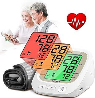 Fall Monitor de Tensión Arterial, BP Superior del Brazo de la máquina, la frecuencia del Pulso Monitoreo medidor con Grandes 3 del contraluz de la Pantalla LCD y 2 User Mode
