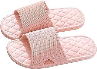 HAOYA Shower Non-Slip Slippers, Bathroom Slipper, House and Pool Sandals Slipper, in-Door Lightweight Slipper for Women (P...
