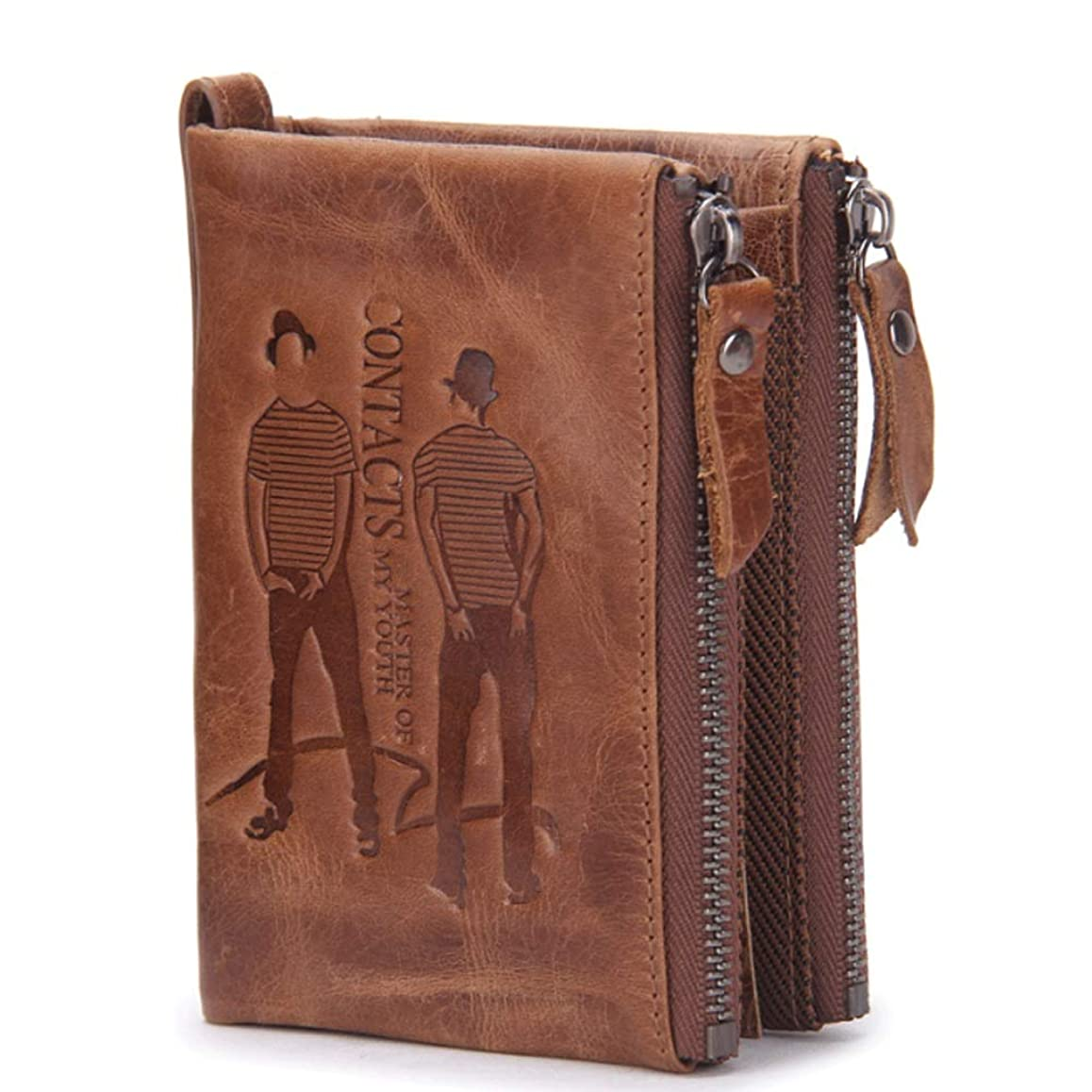 本何でも請求書MUMUWU メンズ 財布 二つ折り財布 牛革 ウォレット 大容量 サイフ メンズ