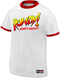 WWE AUTHENTIC WEAR Ronda Rousey Rowdy Ronda Rousey T-Shirt White 3XL
