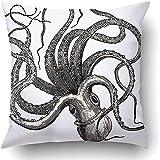 Suo Long Housses de Coussin Octopus Vulgaris Vintage gravé Dictionnaire Encyclopédie Dique Universel Illustr Jules Trousset taie d'oreiller