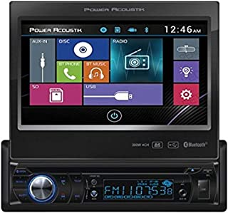 Power Acoustik PD-724B 1-DIN Source Unit With Bluetooth/Motorized 7' LCD,Black