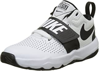 Nike Boy's Team Hustle D 8 (PS) Pre School Basketball Shoe White/Black Size 11 Kids US