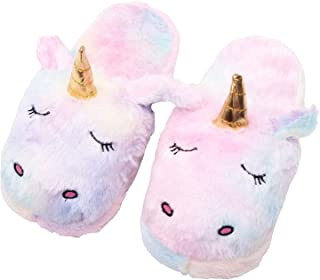 VIRTUAL WORLD Unicorn Indoor Plush Room Slippers Free Size for Teenagers & Adults Unisex Multicolor