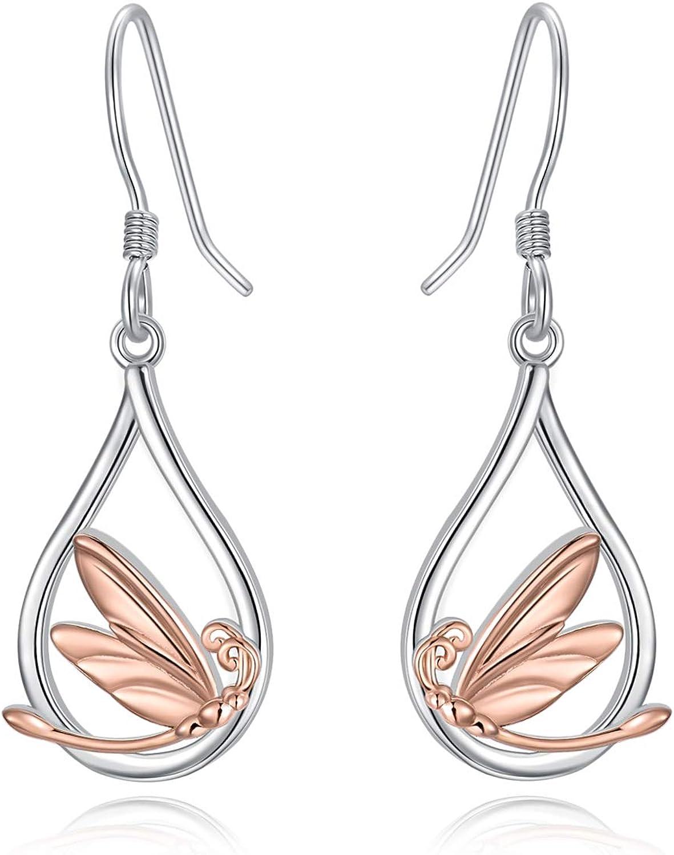 Dragonfly Earrings for Women Dangle Silver Deluxe Sterling Ea Alternative dealer