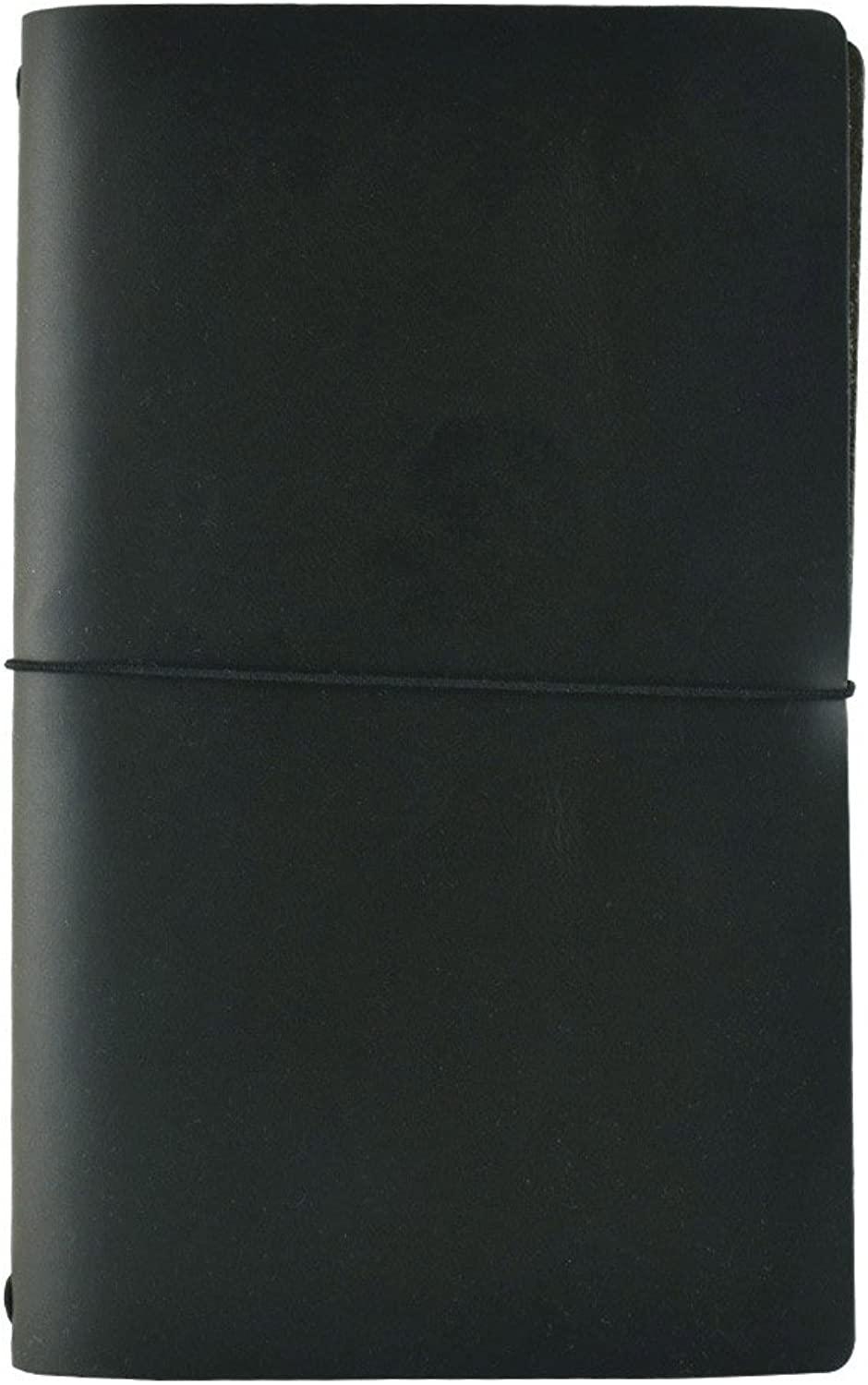 Expedition Leather Notebook by Rustico, 5.5 by 8.5 inches, Charcoal, Refillable, Made in the USA