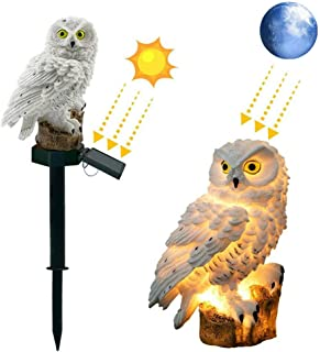 LED Garden Light Solar Light Resin Owl Shape Light,Waterproof And Sunscreen,No Wires,Easy To Install,Can Decorate Garden,L...
