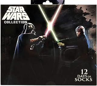 Star Wars, 12 días de calcetines para hombre, Darth Vader V. Luke Skywalker para zapatos talla 6-12