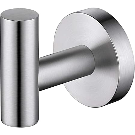 Kes Towel Hook Adhesive Robe Hook Drill Free Heavy Duty Coat Hook Wall Mount For Bathroom Kitchen Garage Sus 304 Stainless Steel Brushed Finish A2164dg 2